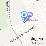 Милицейская волна в Барнауле на карте Барнаула