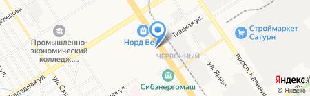 Бочка на карте Барнаула