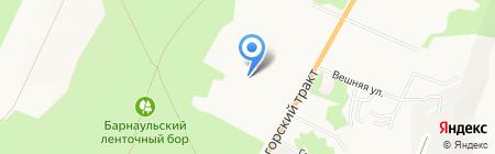 Три фонтана на карте Барнаула