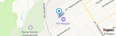 Премьер на карте Барнаула