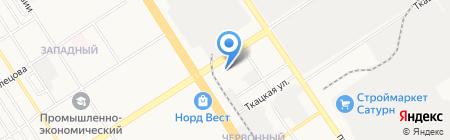 РосТовСтрой на карте Барнаула