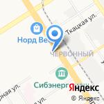 Марка на карте Барнаула