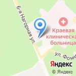 Центр здоровья на карте Барнаула