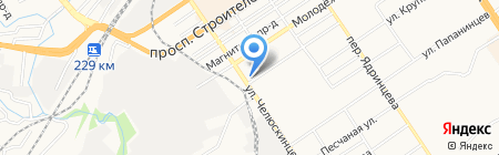 Райт на карте Барнаула