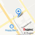 Lada на карте Барнаула