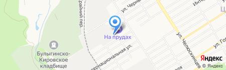 Первая линия на карте Барнаула