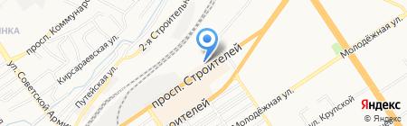 Отдел полиции №1 Управления МВД России по г. Барнаулу на карте Барнаула
