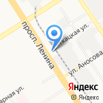 Владиан на карте Барнаула