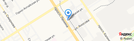 Апола на карте Барнаула
