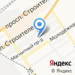 Ровные петельки на карте Барнаула