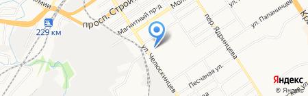 Фишка + на карте Барнаула