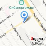 Рони на карте Барнаула