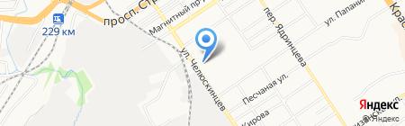 Витэк на карте Барнаула