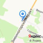 Штопор на карте Барнаула