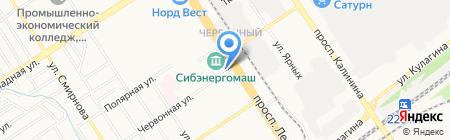 Зелёный дворик на карте Барнаула