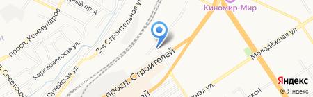 Бильярды на карте Барнаула