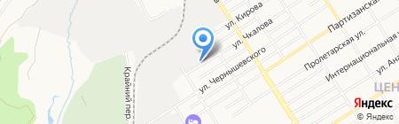Аэрком на карте Барнаула