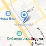 Гаражный кооператив №12 на карте Барнаула