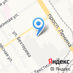 Авеню на карте Барнаула