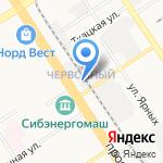 Гаражный потребительский кооператив на карте Барнаула