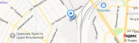 Элоранта на карте Барнаула