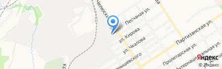 Риваил на карте Барнаула