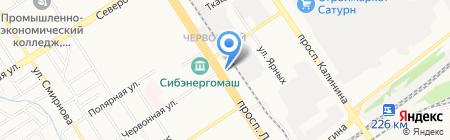 Океан на карте Барнаула