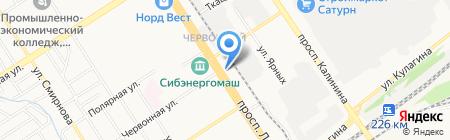 Кельт на карте Барнаула