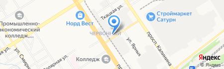 ЗАГС Железнодорожного района на карте Барнаула