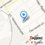 Мега-диск на карте Барнаула