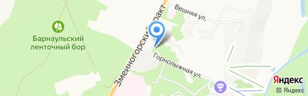 Эколайн на карте Барнаула