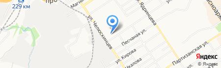 Элико на карте Барнаула