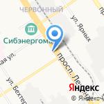 Аквамир на карте Барнаула