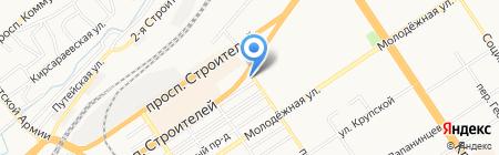 Сытый волк на карте Барнаула