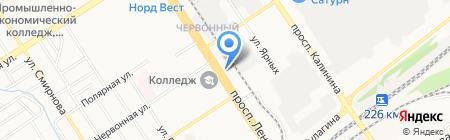 Детская городская поликлиника №6 на карте Барнаула