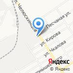 Абрис на карте Барнаула
