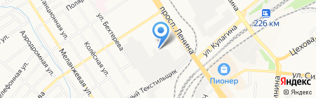 Нинель на карте Барнаула