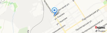 Модус на карте Барнаула