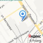 Гостиница на карте Барнаула
