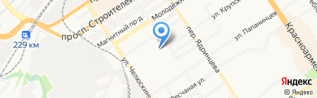 Адалин-Строй на карте Барнаула