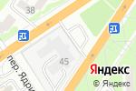 Схема проезда до компании АФИНА ПАЛЛАДА в Барнауле