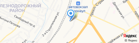 Музей истории Алтайского региона Западно-Сибирской железной дороги на карте Барнаула