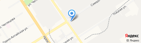 Автостартер на карте Барнаула