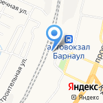 Транзит на карте Барнаула