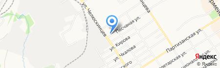 Клинок на карте Барнаула