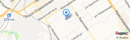 Электа на карте Барнаула