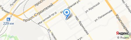 Мебельное ателье на карте Барнаула