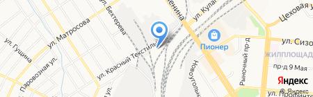 Барнаульская дистанция гражданских сооружений на карте Барнаула