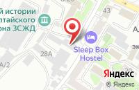 Схема проезда до компании Раск в Барнауле