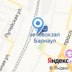 Железнодорожный вокзал на карте Барнаула